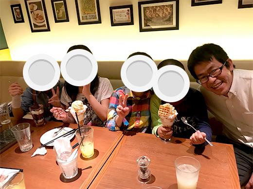 子供たちと外食