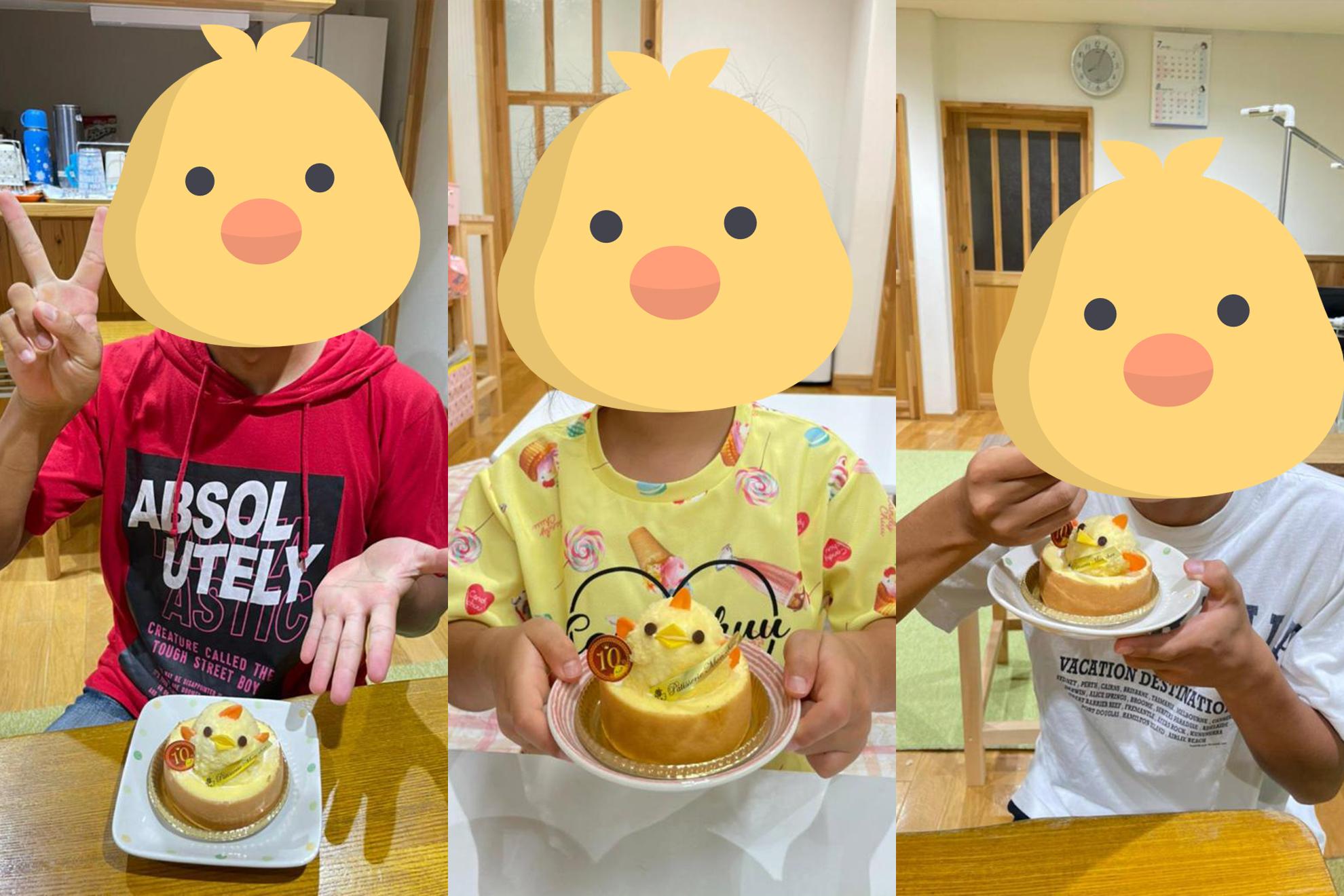 可愛いひよこのケーキ