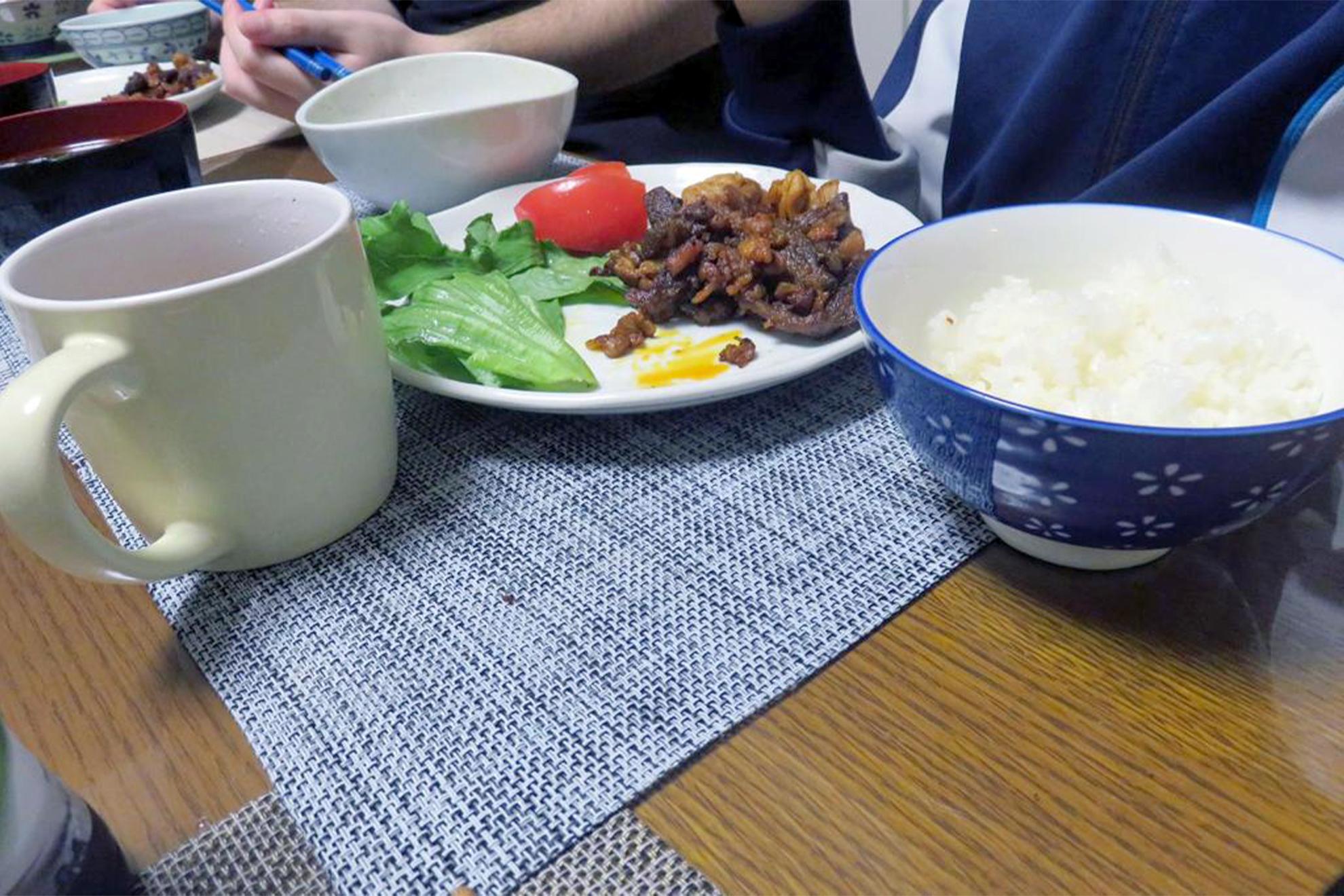 ラム肉の夕ご飯